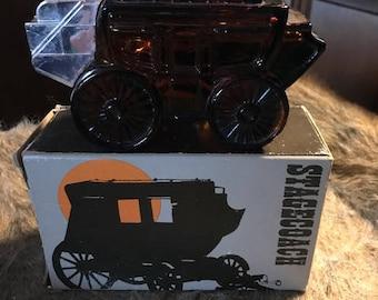 Vintage Avon Stagecoach Bottle Wild Country After Shave in Original Box