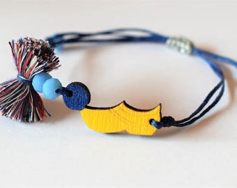 Yellow Bracelet , Tsarouhi Greek Shoe