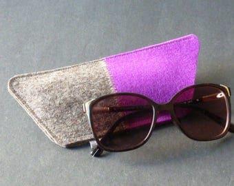 Felt glasses case, trapezoid model