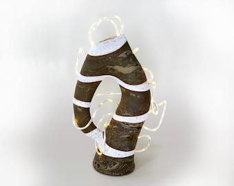 Table lamp, luminaire, sculpture, decoration, lighting, light