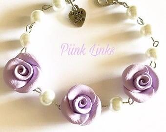 Lavender Rose Bracelet