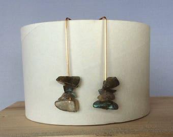 Labradorite earrings, labradorite, drop earrings, blue, birthday, birthday gift