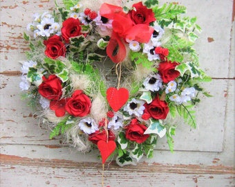 Wall wreath wreaths natural country style