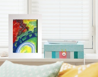 Collectible art, affordable art, greeting card