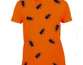 Halloween ants Tshirt-ants Tshirt-insect Tee-halloween outfit-costume-halloween Tee-slogan Tee-statement Tshirt-womens short sleeved Tee-