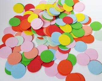 Colorful confetti Ø 2.8 cm / 20 g