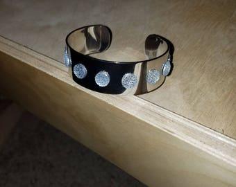 cuff, bling, jewelry, rhinestones