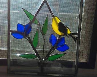 Goldfinch window