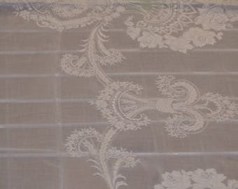 Old organdy tablecloth