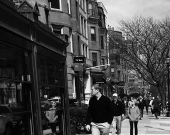 Man Walking Down Newbury Street