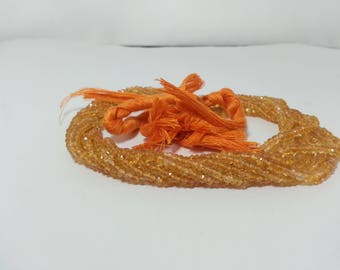 Natural Citrine Faceted Rondelle Beads | Citrine Beads | Yellow Beads | Orange Beads | Gold Beads | Citrine Rondelle Beads | Citrine Faceted