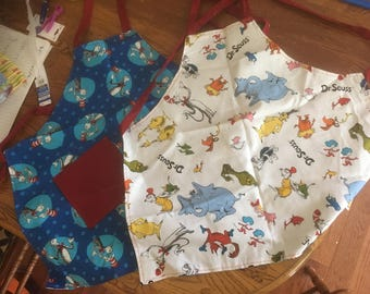 Child's reversible Dr Suess apron
