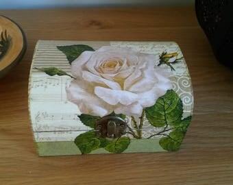 Chest Trinket Box, Keepsake Box, Rose, Jewellery Box