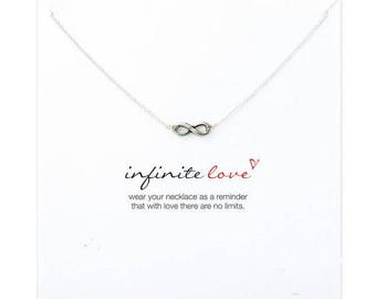 Handmade Silver Plated Infinity Necklace