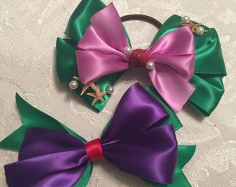 Disney Princess Ariel inspired bow