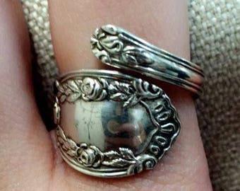 Sterling Silver Spoon Ring Vintage