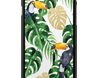 Case Iphone 4, 5, 6, 7 Tropical 003 black edges
