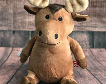 Moose Cubby with Personalisation | Personalised Teddy | New Baby Gift | Christening Present | Baby Shower | Communion Gift | Birthday