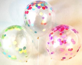 Transparent Confetti Balloons (Set of 6)