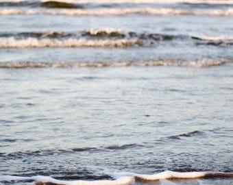 Fine Art Photograph Galveston Beach and Waves