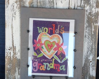 layered wood picture frame