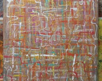 Fabulous, Lively, Multi-colored acrylic painting