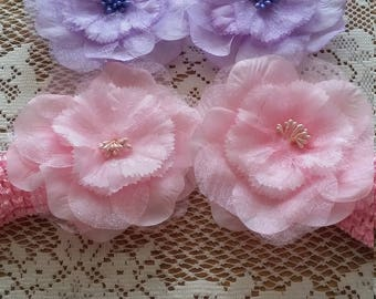 flowered headband for baby