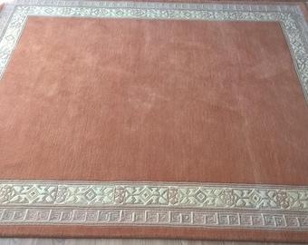 Beige handmade carpet