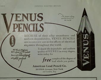 1920 Ads Venus Pencils and Universal Wavemeter