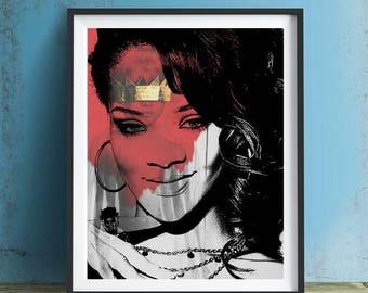 Rihanna Art Print or Canvas, Wall Art, Artwork, Gift