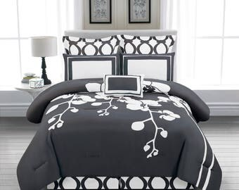 April 6pc Reversible Oversize/Overfilled Comforter Set