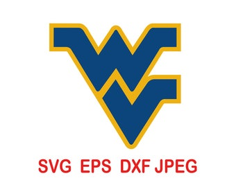 West Virginia Mountaineers.svg,eps,dxf,png.
