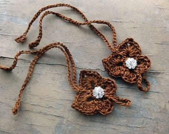 Crochet Baby Barefoot Sandals, Baby Girl Sandles, Brown Butterlfy Toddler Barefoot Sandals