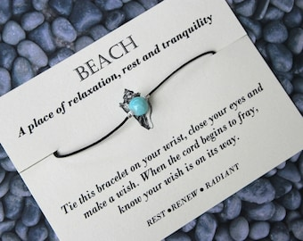 Beach Wish Bracelet, Beach Bracelet, Beach Jewelry,Wish Upon Your Wrist, Wish Bracelet, Wish On Your Wrist, Wish On Your Wrist Bracelet