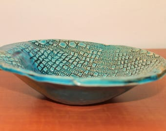 deep turquoise plate