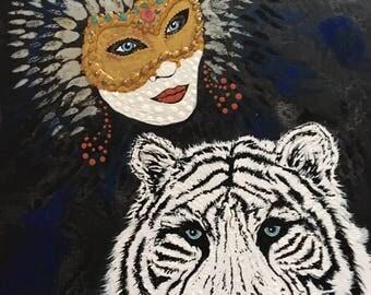 Original Artwork, acrylic on canvas board, framed