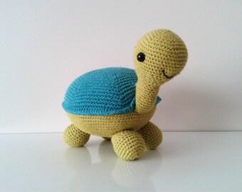 Crochet  Amigurumi Toy, Handmade Plush Tortoise, Children Gift, Handmade Gift, Soft Toy