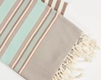 Premium Quality, Modal Collection  Turkish Towel- Green