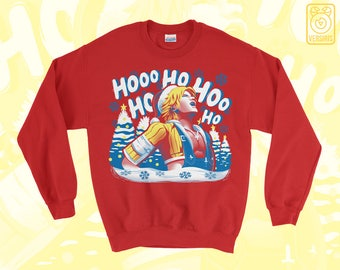 Tidus Laugh SWEATER Jolly Tidings // Final Fantasy X FFX // Internet Memes // Ugly Sweater // Holiday Christmas Sweater // Gamer Gifts