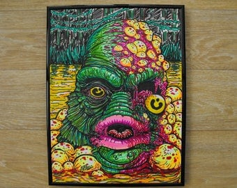 Creature from the Toxic Lagoon framed print