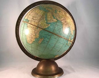 Very rare and exclusive Terrastrial George F. Cram's globe, ca. 1935.