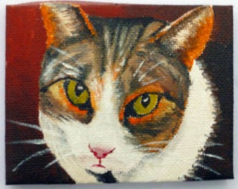 Cat - miniature oil painting