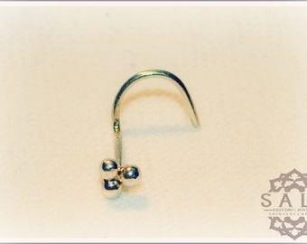 nostril handmade in.925 Silver