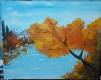 Autumn Acrylic Landscape Painting