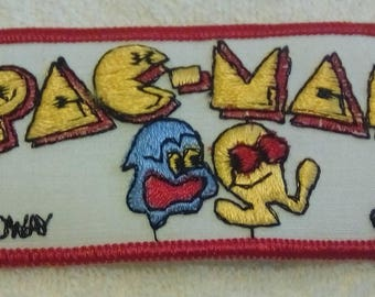 Vintage PAC MAN PATCH, pac-man patches