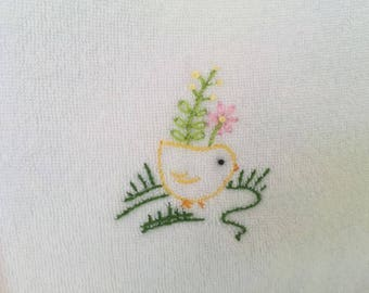 Hand Embroidered Chickie Bib