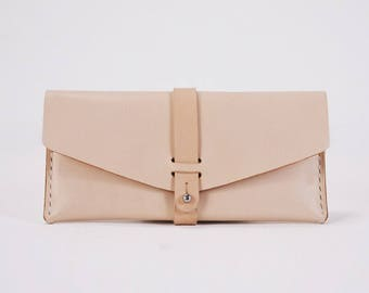 Free shipping Handmade Leather purse, Leather Wallet, Leather Clutch, Money Clips  with Vegetable Tanned Leather