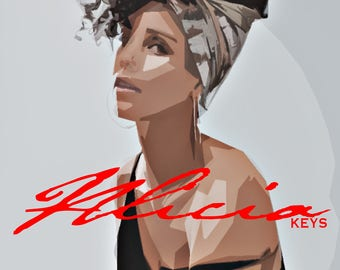 Alicia Keys Artwork Canvas