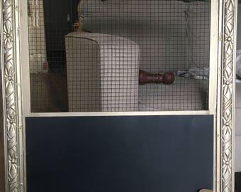 Chicken wire Chalkboard Frame