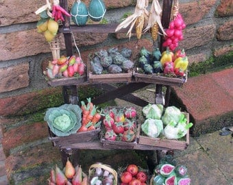 Fruit and Veggie stand in wax